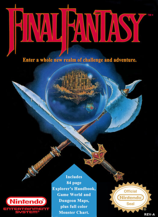 Final Fantasy NES Box Art