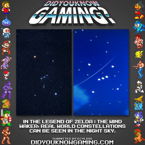 Earthly Constellations as seen in The Legend of Zelda The Wind Waker.