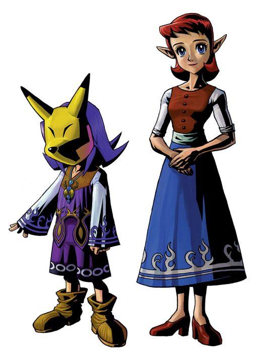 Kafei and Anju Artwork from The Legend of Zelda: Majora's Mask.