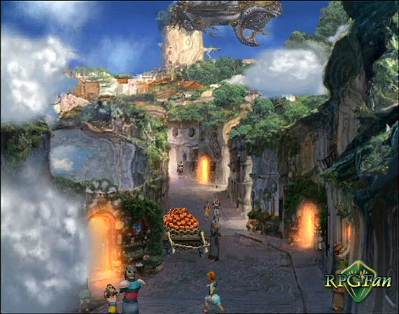 The town of Pherkard on the island of Sadal Suud in Baten Kaitos: Eternal Wings and the Lost Ocean