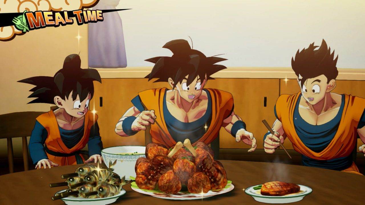 Get busy eating or get busy dying with Goku's feast mode in Dragon Ball Z: Kakarot.