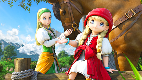 An image of Serena and Veronica in Dragon Quest XI