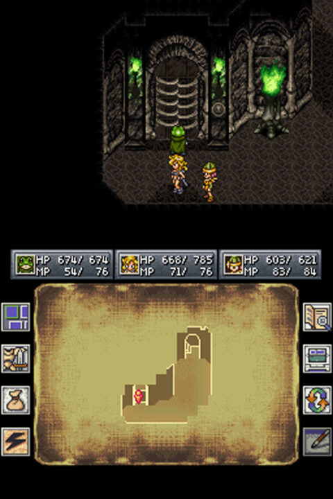 Dungeon exploration with Ayla and Lucca in Chrono Trigger the DS port.