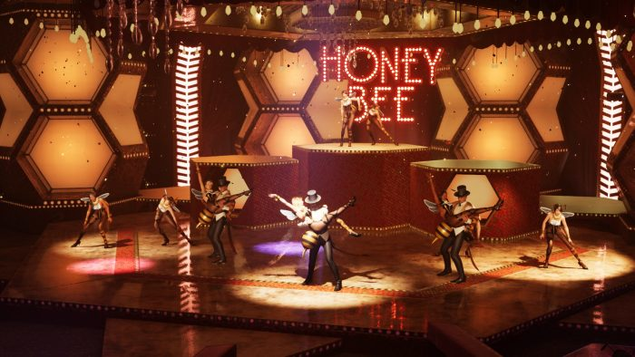 A dance number from the Honey Bee Inn in Final Fantasy 7 Remake