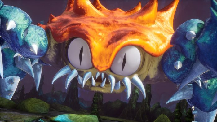 Giant enemy crab boss in Trials of Mana's 2020 remake.