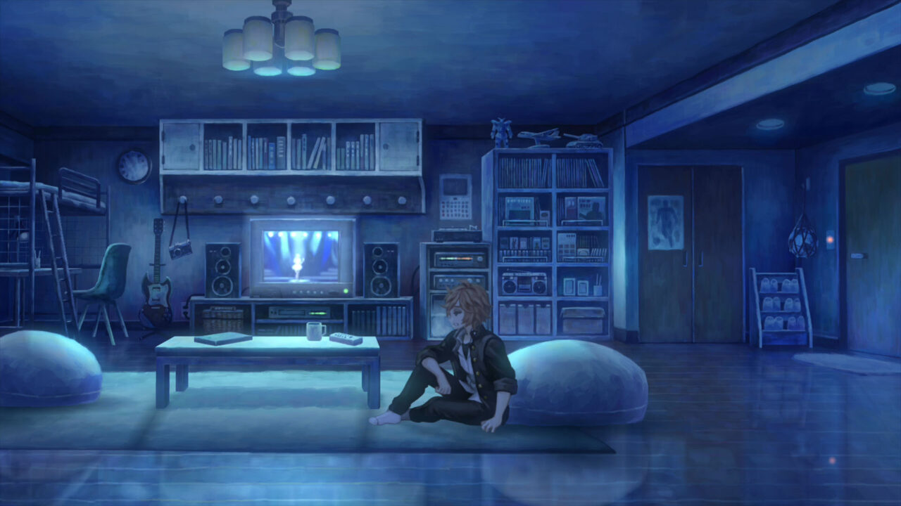 Shu Amiguchi's apartment in 13 Sentinels: Aegis Rim