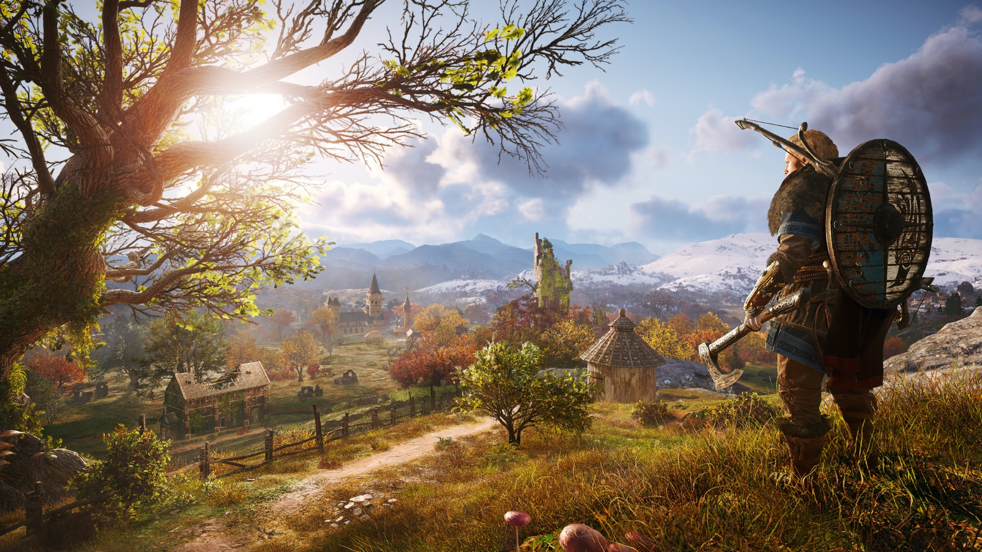 A scenic countryside from Assassin's Creed Valhalla.