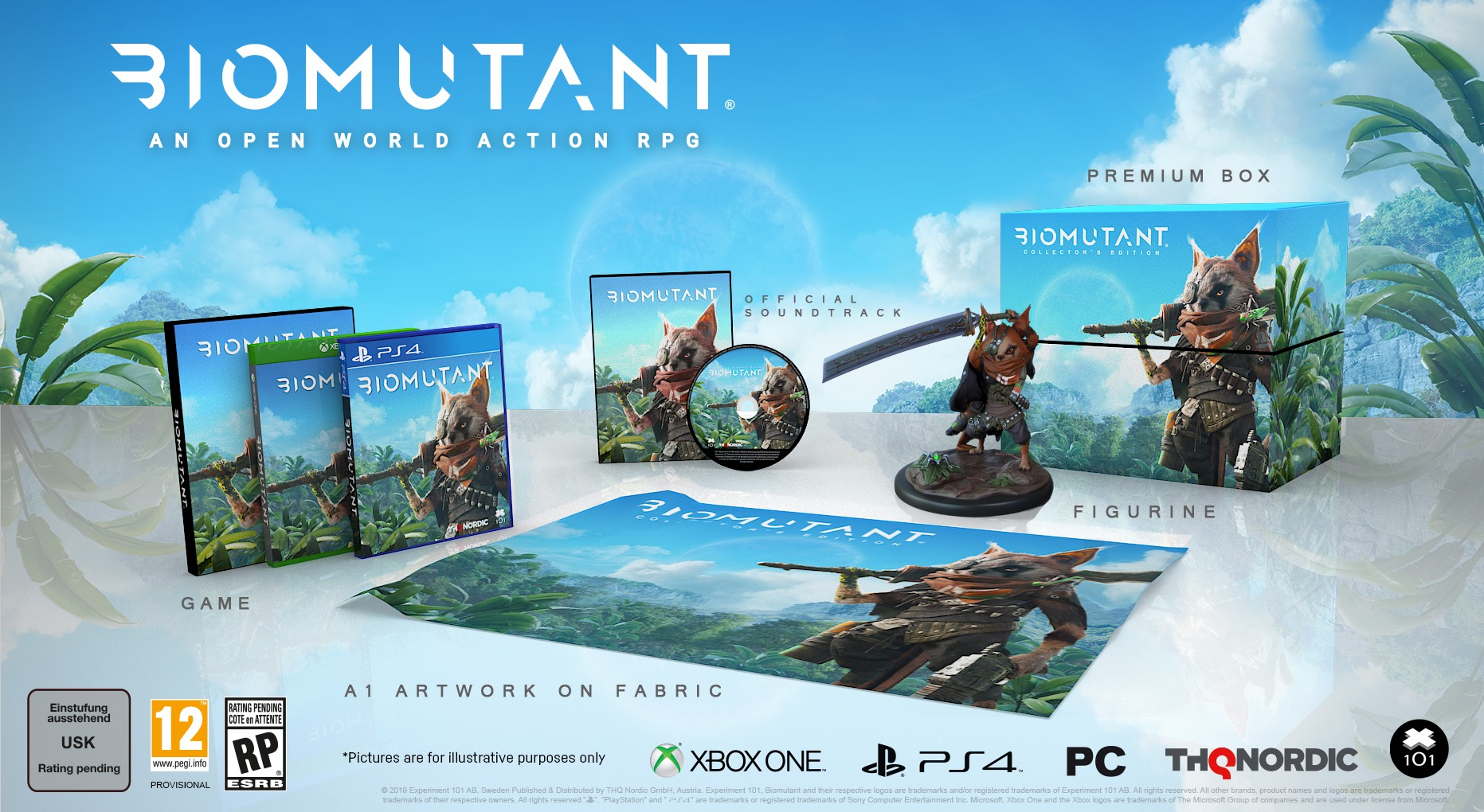 A screenshot of the Biomutant Collector's Edition.