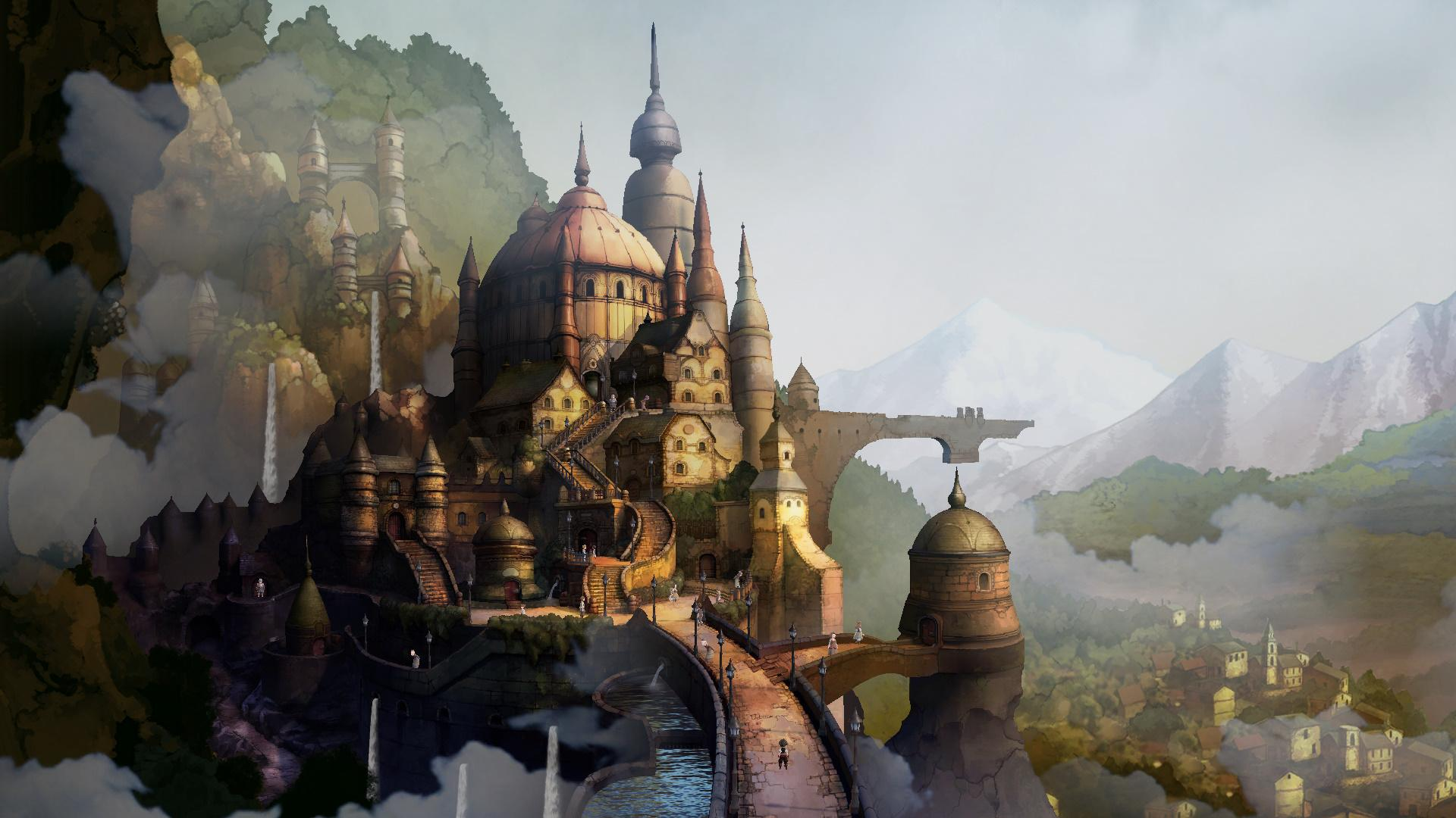 Screenshot Of A City From Bravely Default II