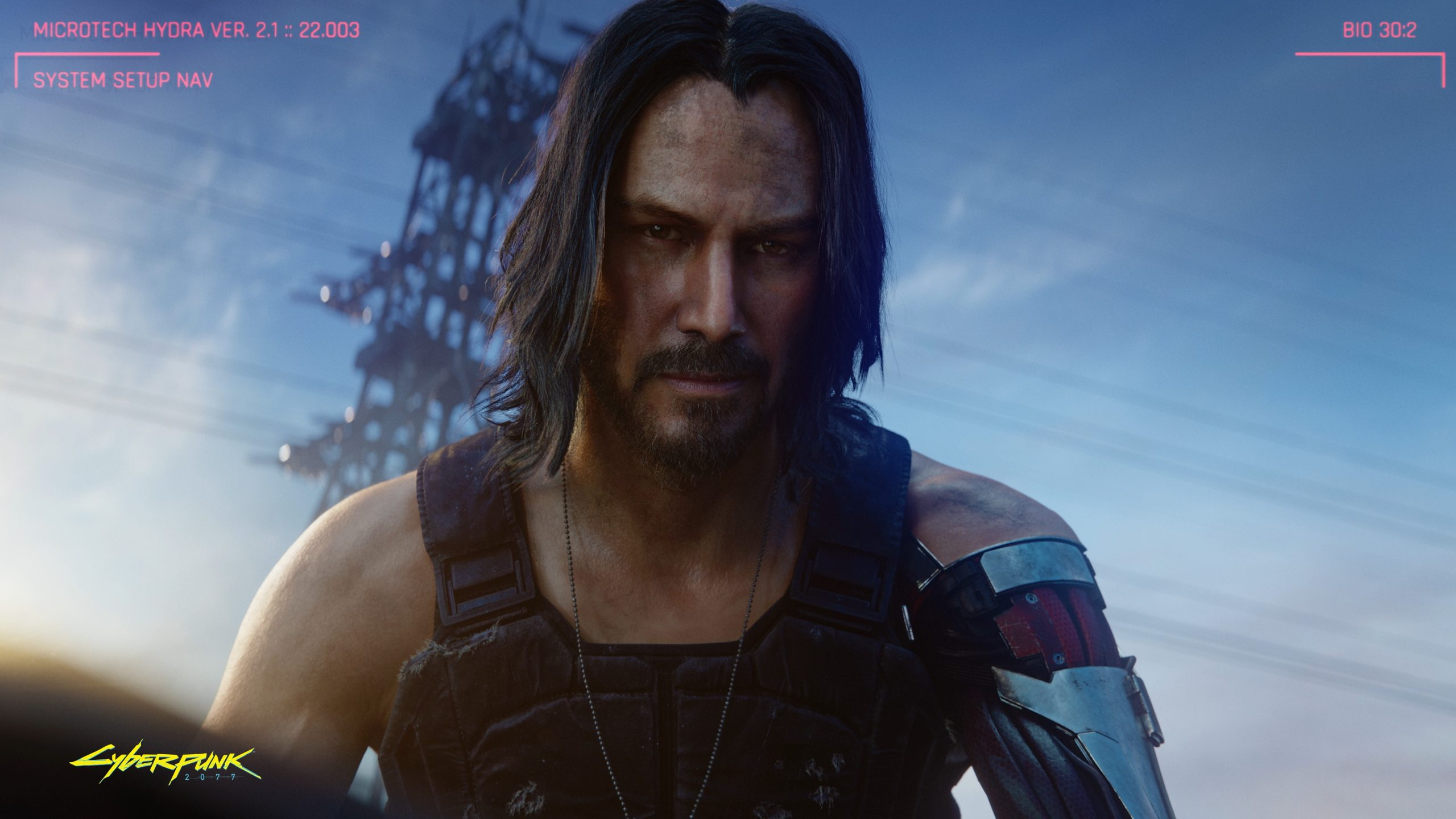 Screenshot Of Keanu Reeves Being Breathtaking In Cyberpunk 2077