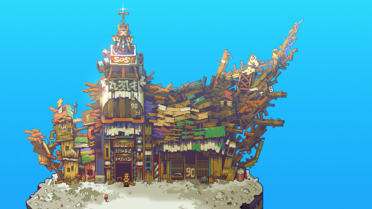 A castle-like structure in Eastward