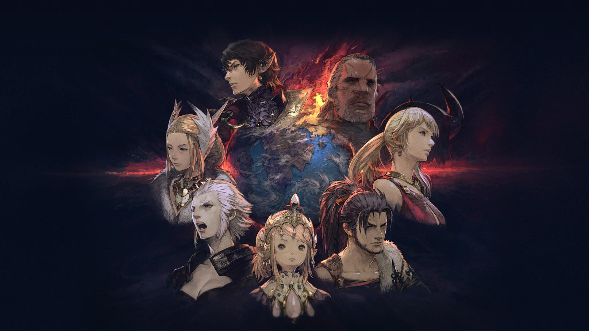Final Fantasy XIV's main regional leaders form a circle.