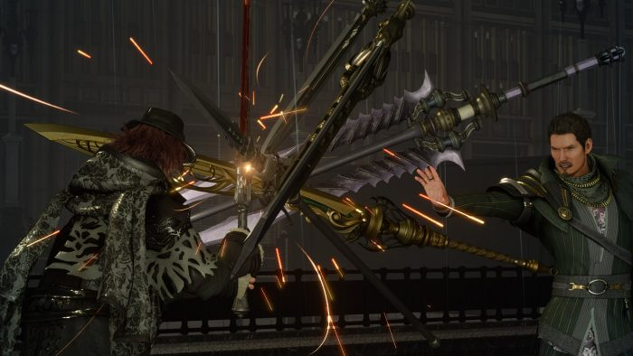 Screenshot from Final Fantasy XV Episode Ardyn Featuring A Battle With King Regis