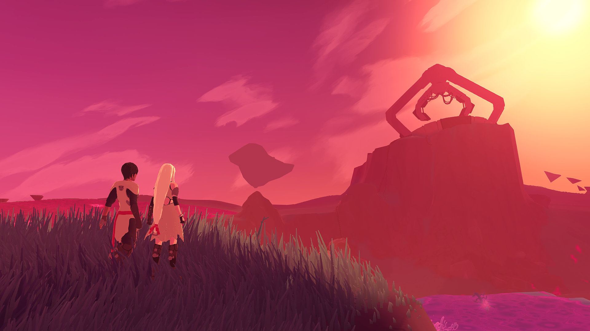 Yu and Kay watch the sunset of Source in Haven