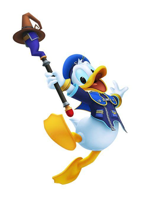 Artwork Of Donald Duck From Kingdom Hearts Melody Of Memory
