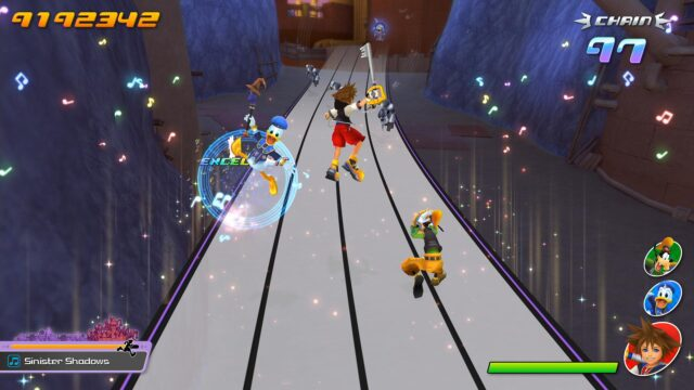Screenshot From Kingdom Hearts Melody Of Memory Showing Normal Gameplay
