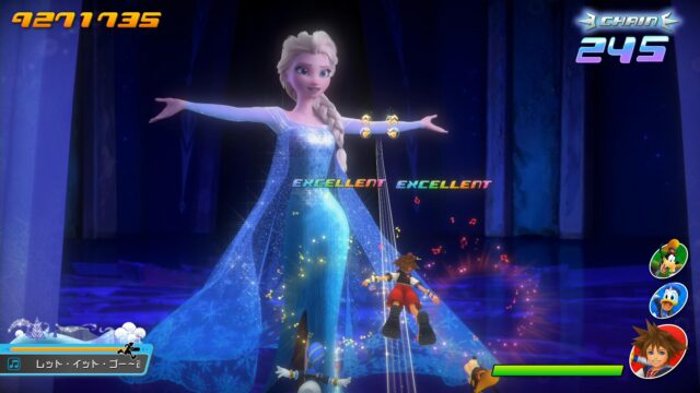 Screenshot From Kingdom Hearts Melody Of Memory Featuring Elsa From Frozen