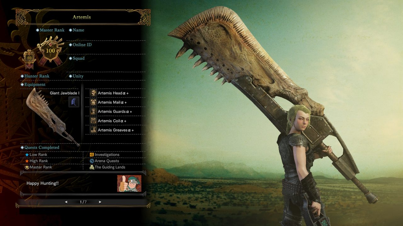 Screenshot From Monster Hunter World Featuring Milla Jovovich