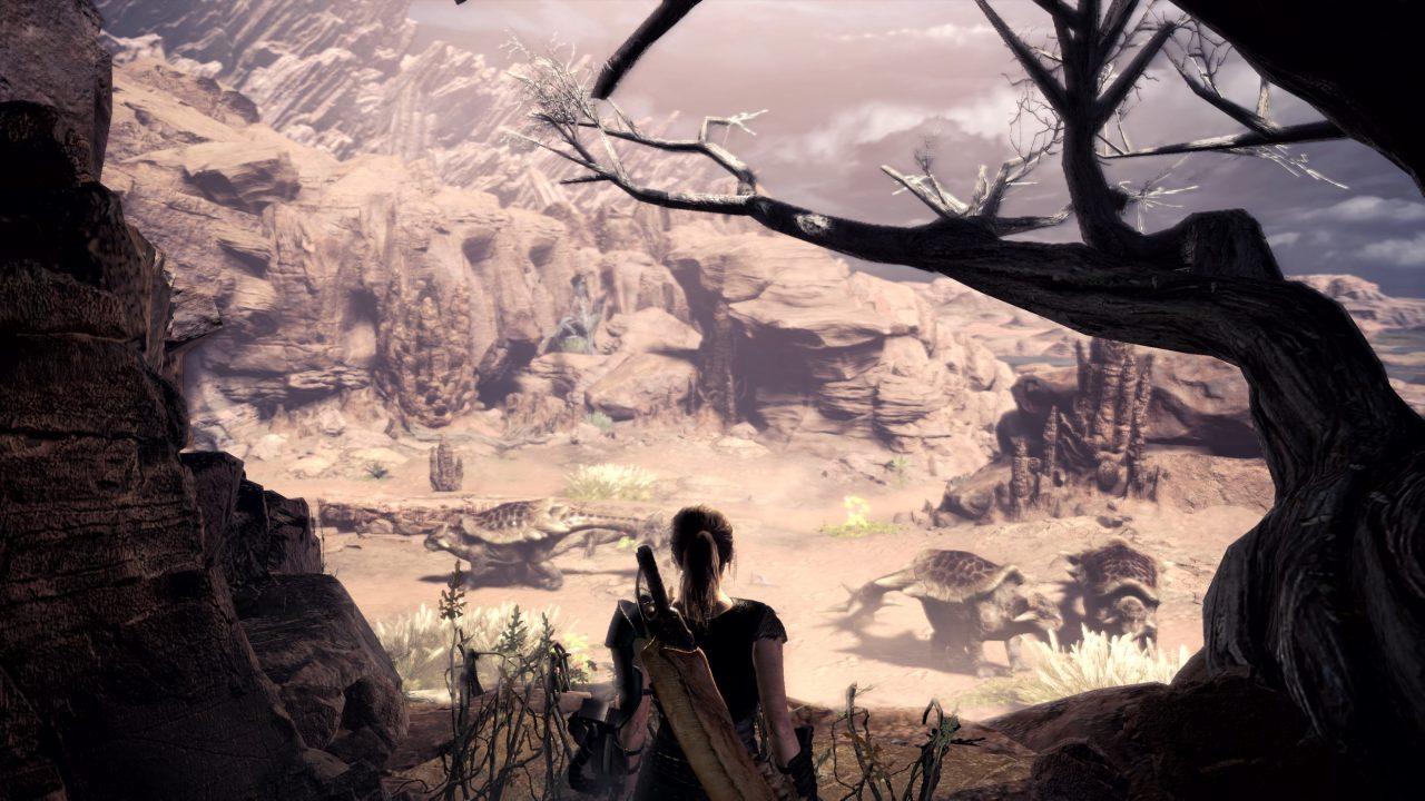 Screenshot From Monster Hunter World Featuring Milla Jovovich