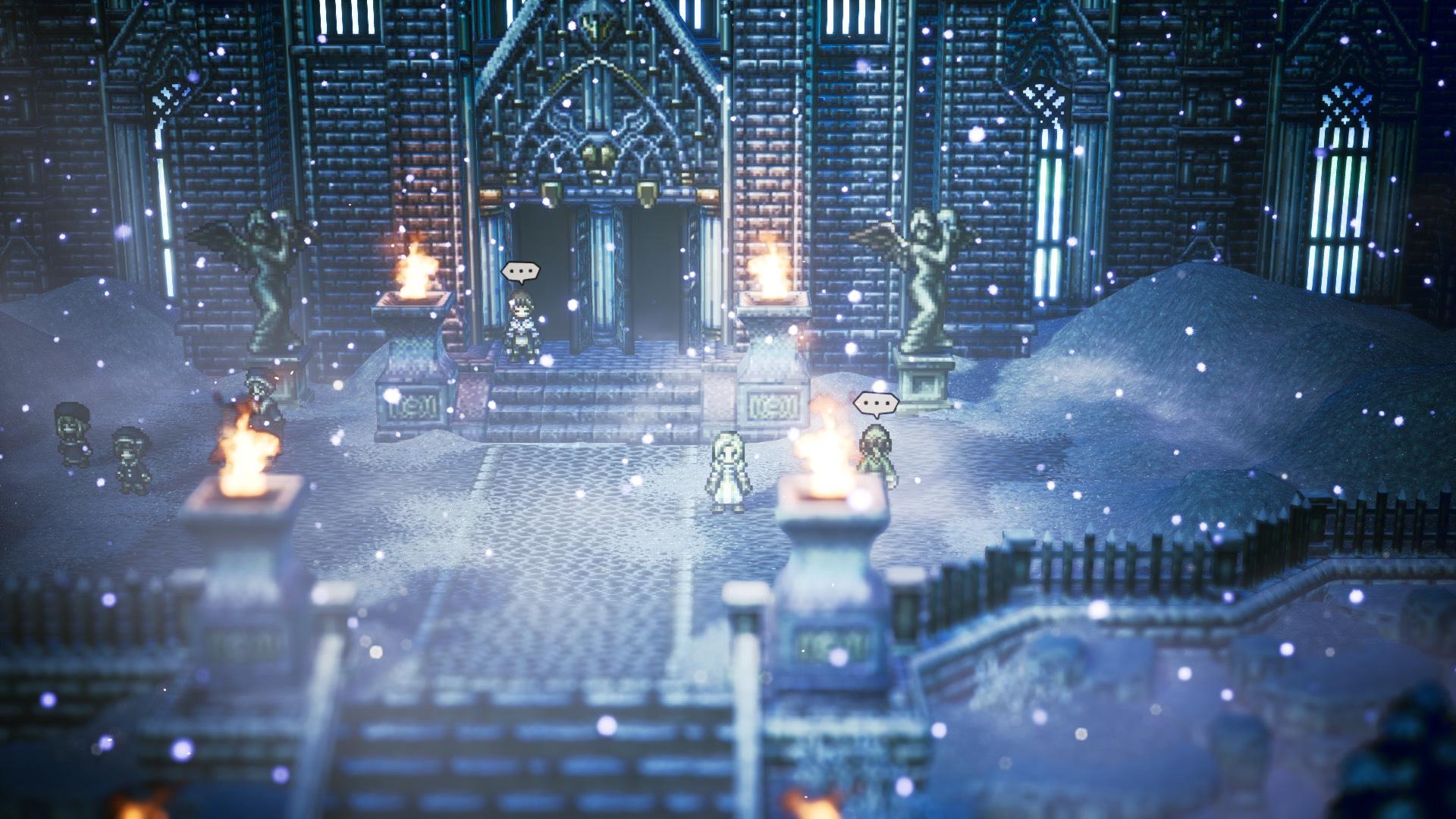 Snowy Flamesgrace in Octopath Traveler.