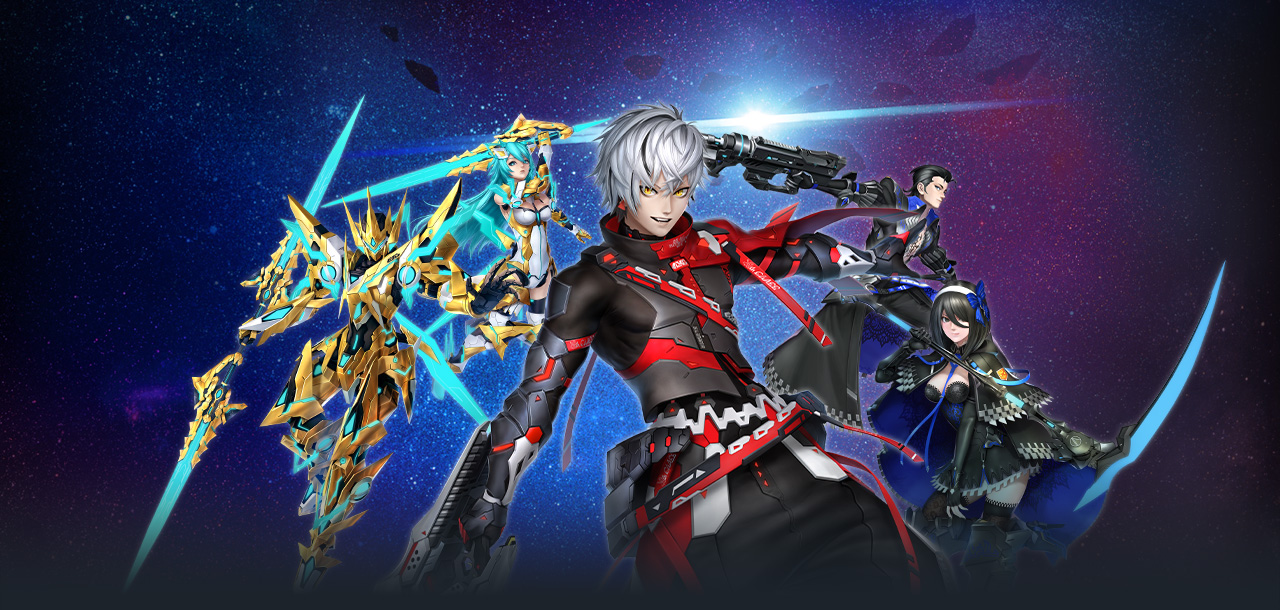 Artwork Of The Gunblade Using Luster Class From Phantasy Star Online 2