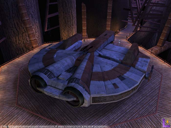 The Ebon Hawk, Knights of the Old Republic's signature starship.