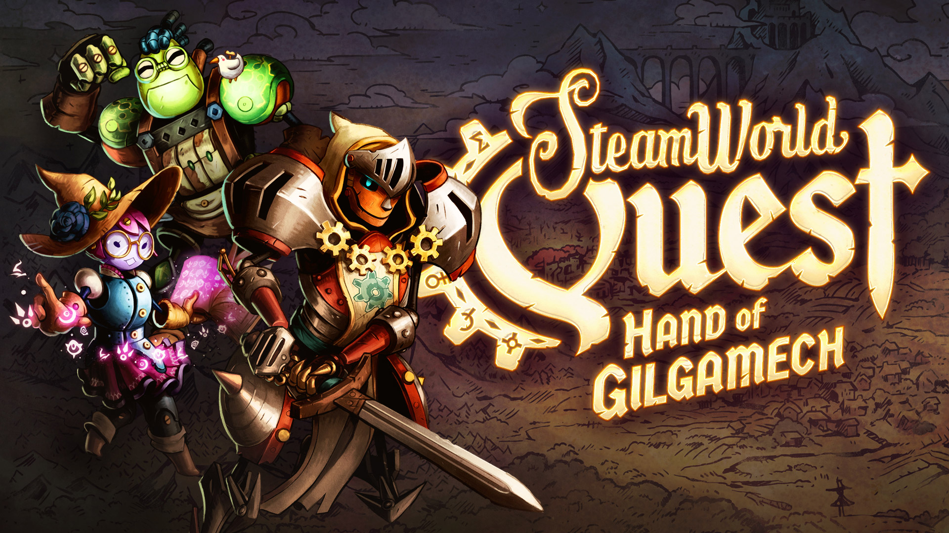 Artwork of SteamWorld Quest: Hand of Gilgamech
