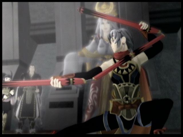 A shot of Frey in battle in Suikoden V