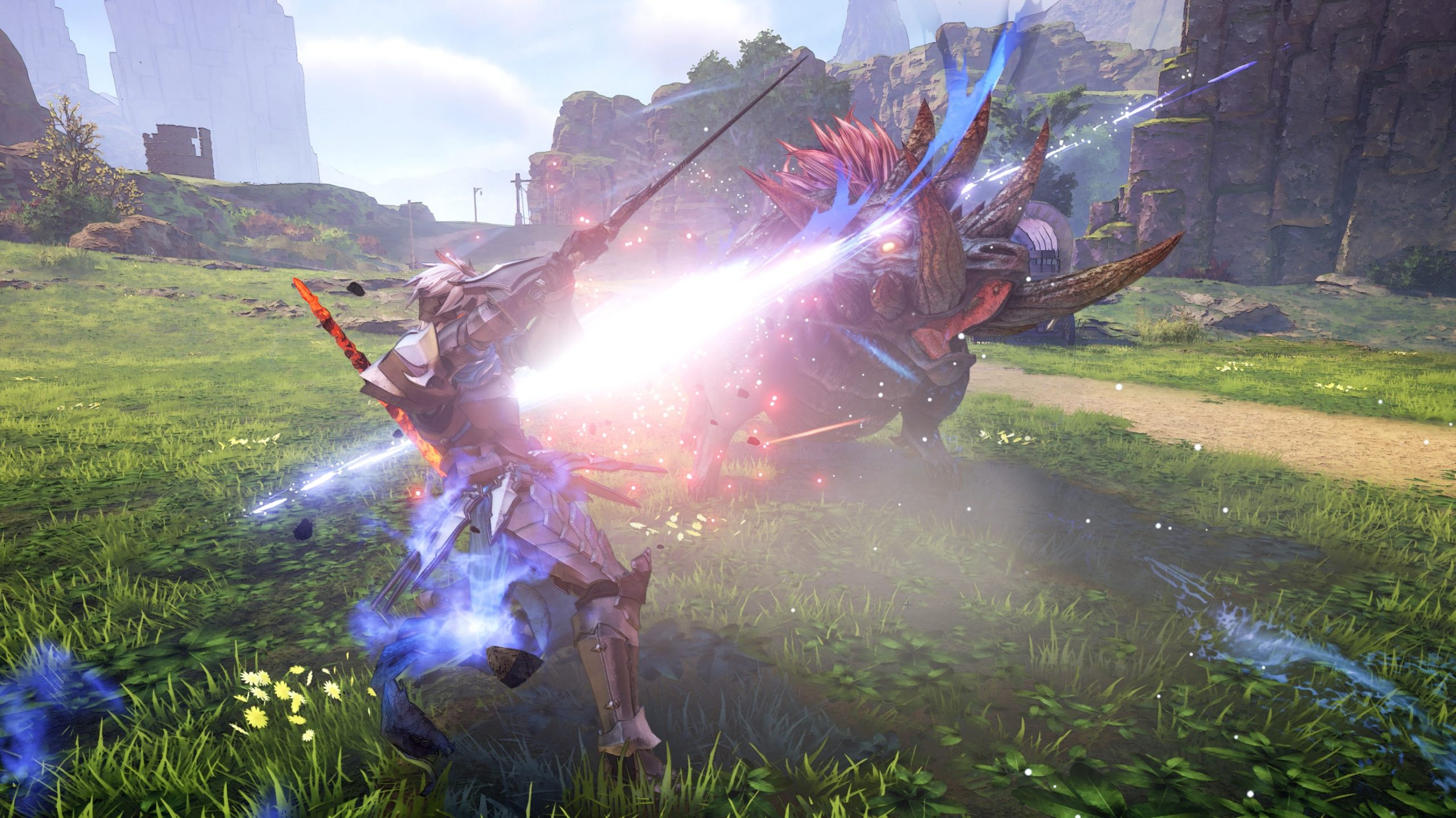 Engaging in battle in Tales of Arise