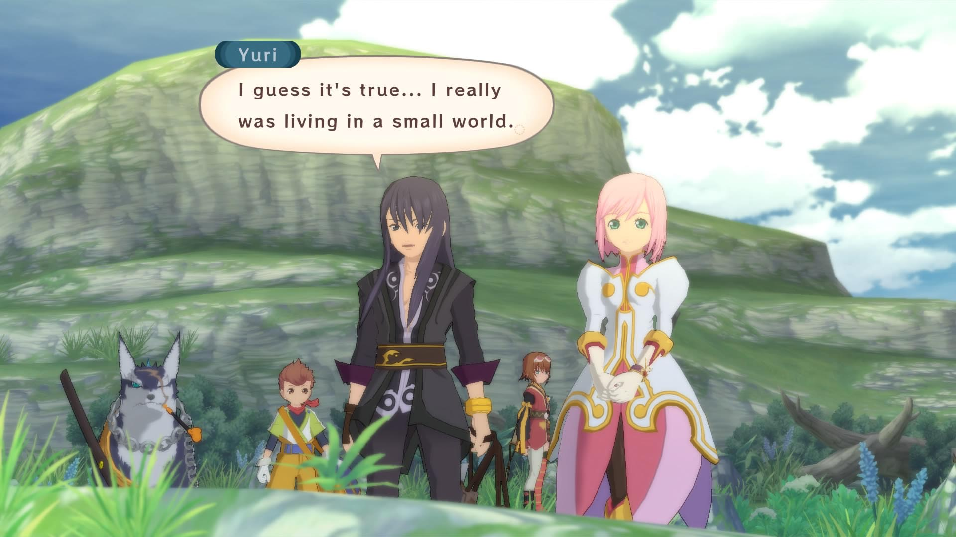 A character makes a remark in Tales of Vesperia: Definitive Edition.