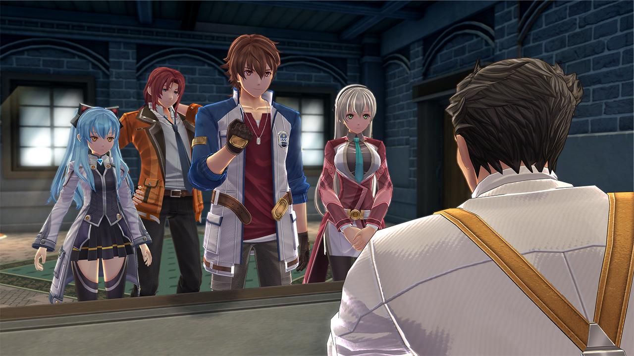 Trails into Reverie screenshot of the SSS meeting with Chief Sergei.
