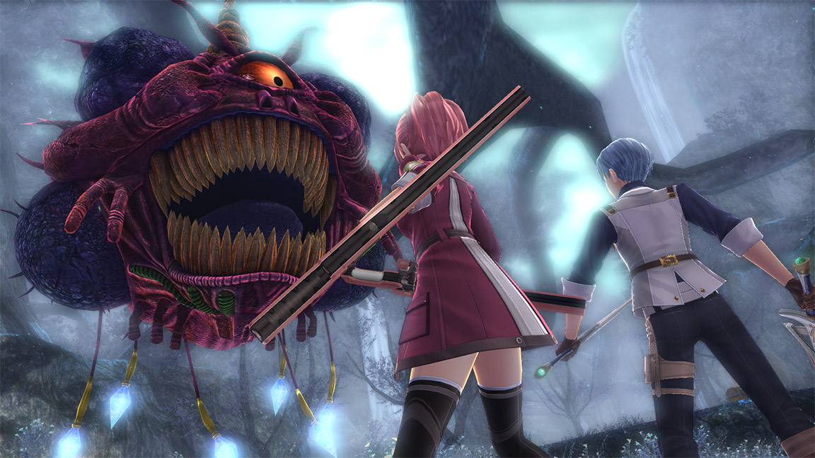 The Legend of Heroes: Trails of Cold Steel IV Screenshot: Facing off against an enemy.