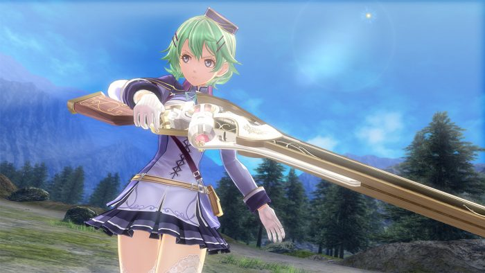 Trails of Cold Steel IV screenshot of Musse brandishing her orbal rifle.