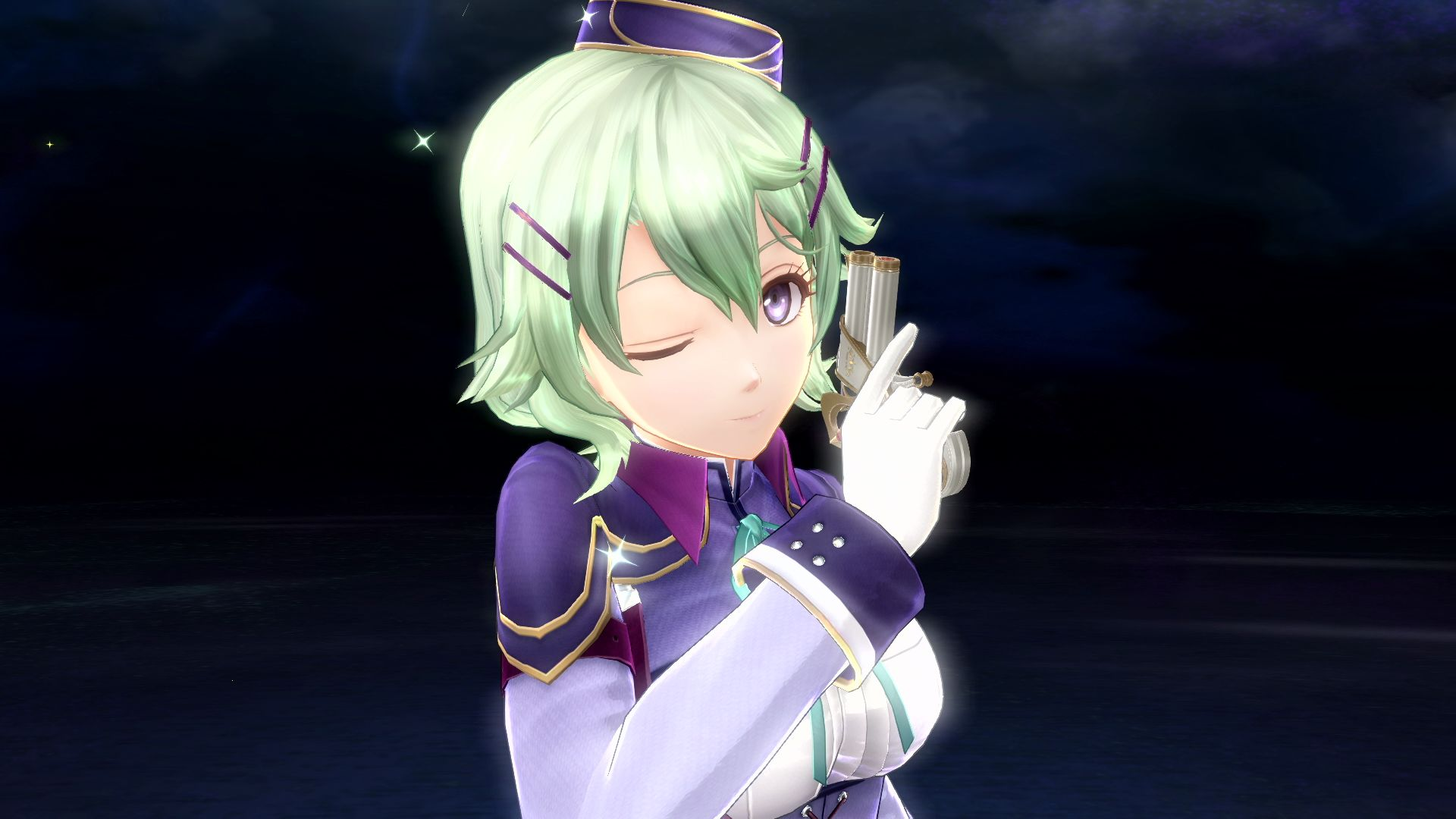 A knowing wink from Musse Egret in Trails of Cold Steel IV.