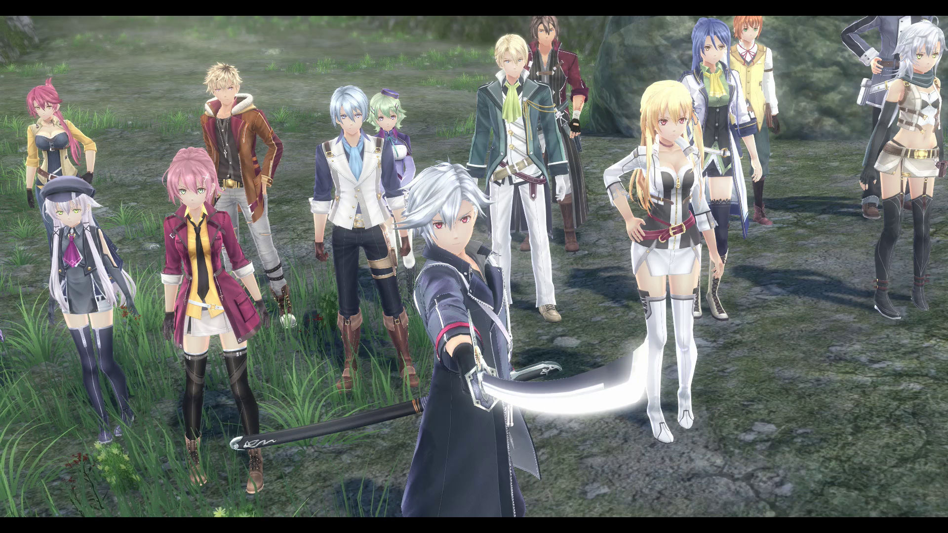 The Legend of Heroes: Trails of Cold Steel IV Screenshot: Class VII is ready for a showdown.