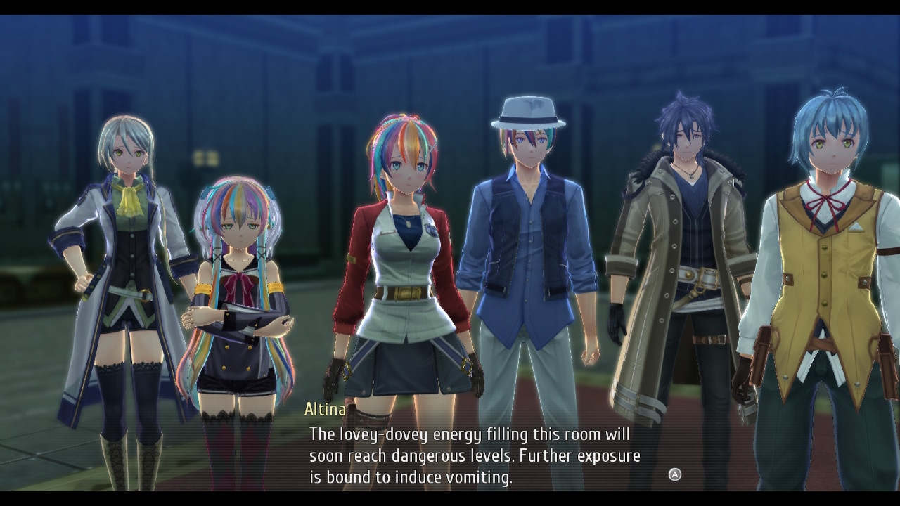 Trails of Cold Steel IV screenshot featuring Altina telling it like it is.