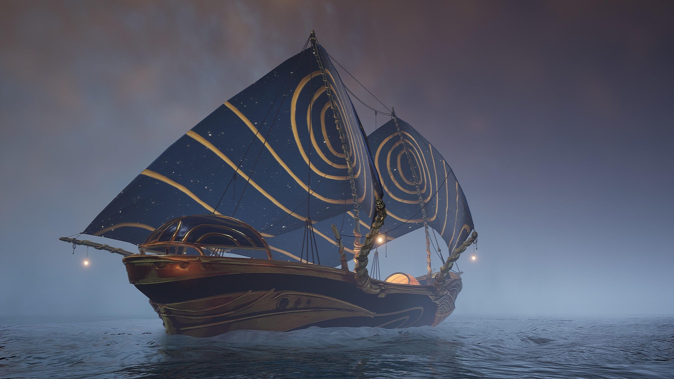 A boat sailing the seas found within The Waylanders.