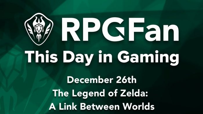 This Day in Gaming - December 26 - The Legend of Zelda: A Link Between Worlds