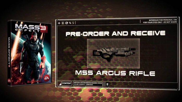 Pre-Order Bonus (M55 Argus Assault Rifle)