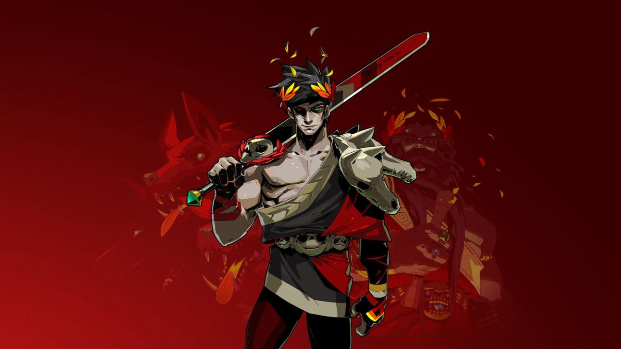 Zagreus looking cool with his sword over his shoulder.