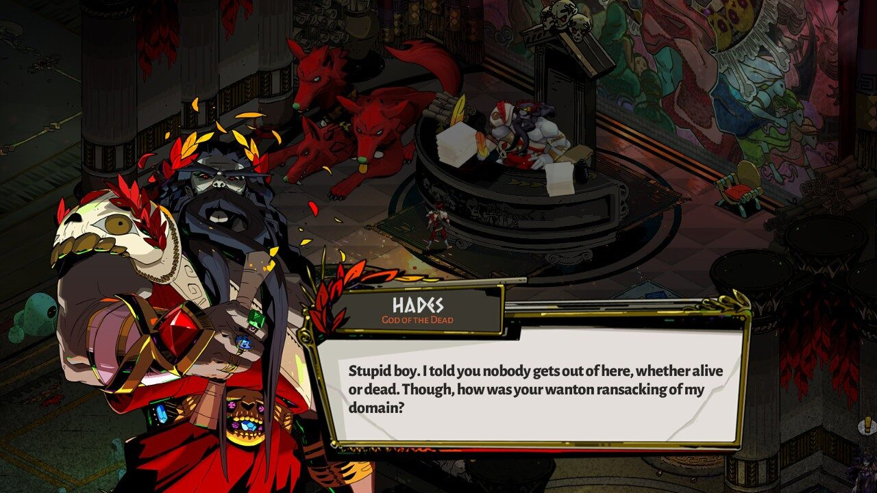 Zagreus has a meeting with his father