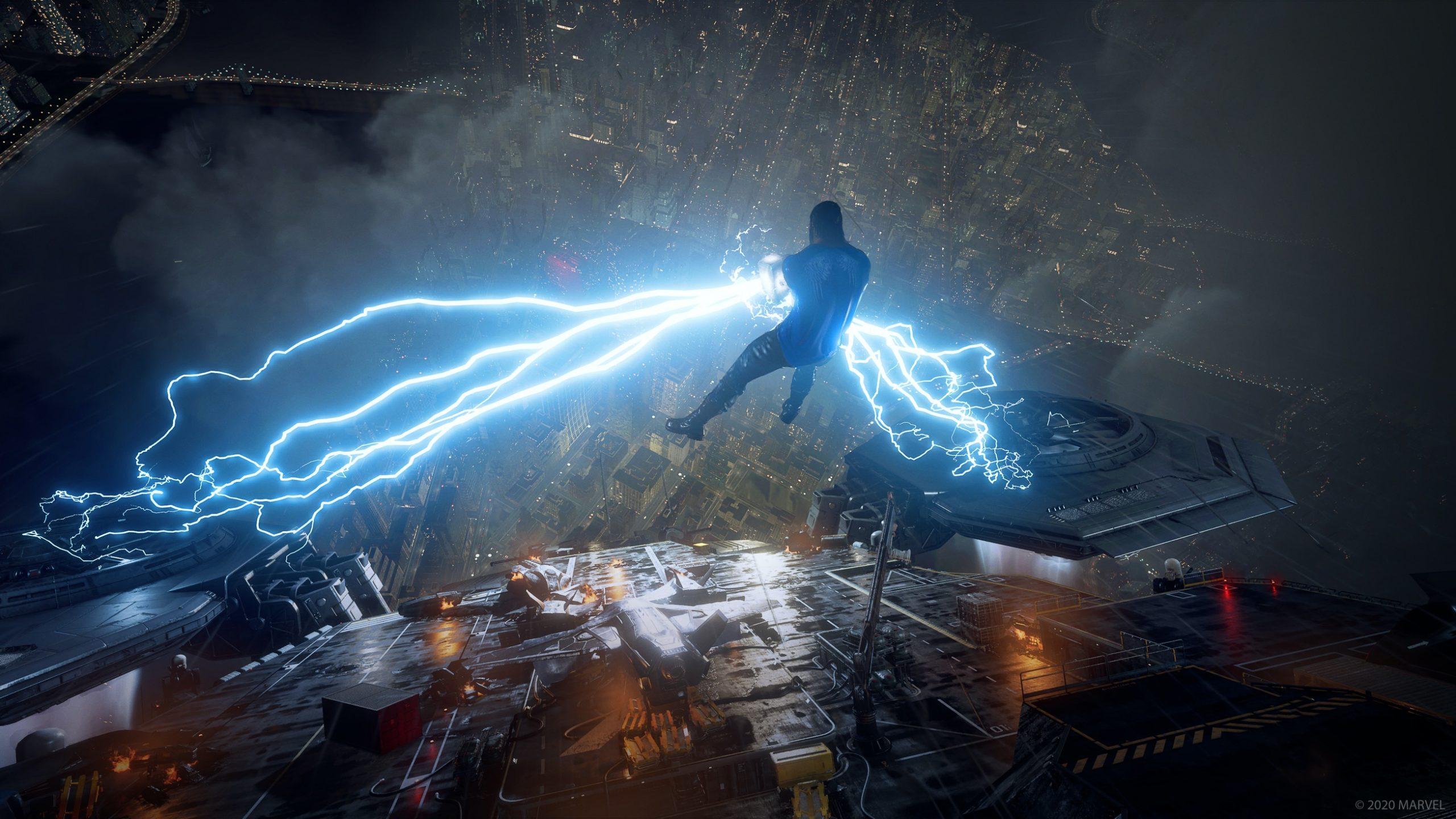 Marvel's Avengers Man shooting lightning