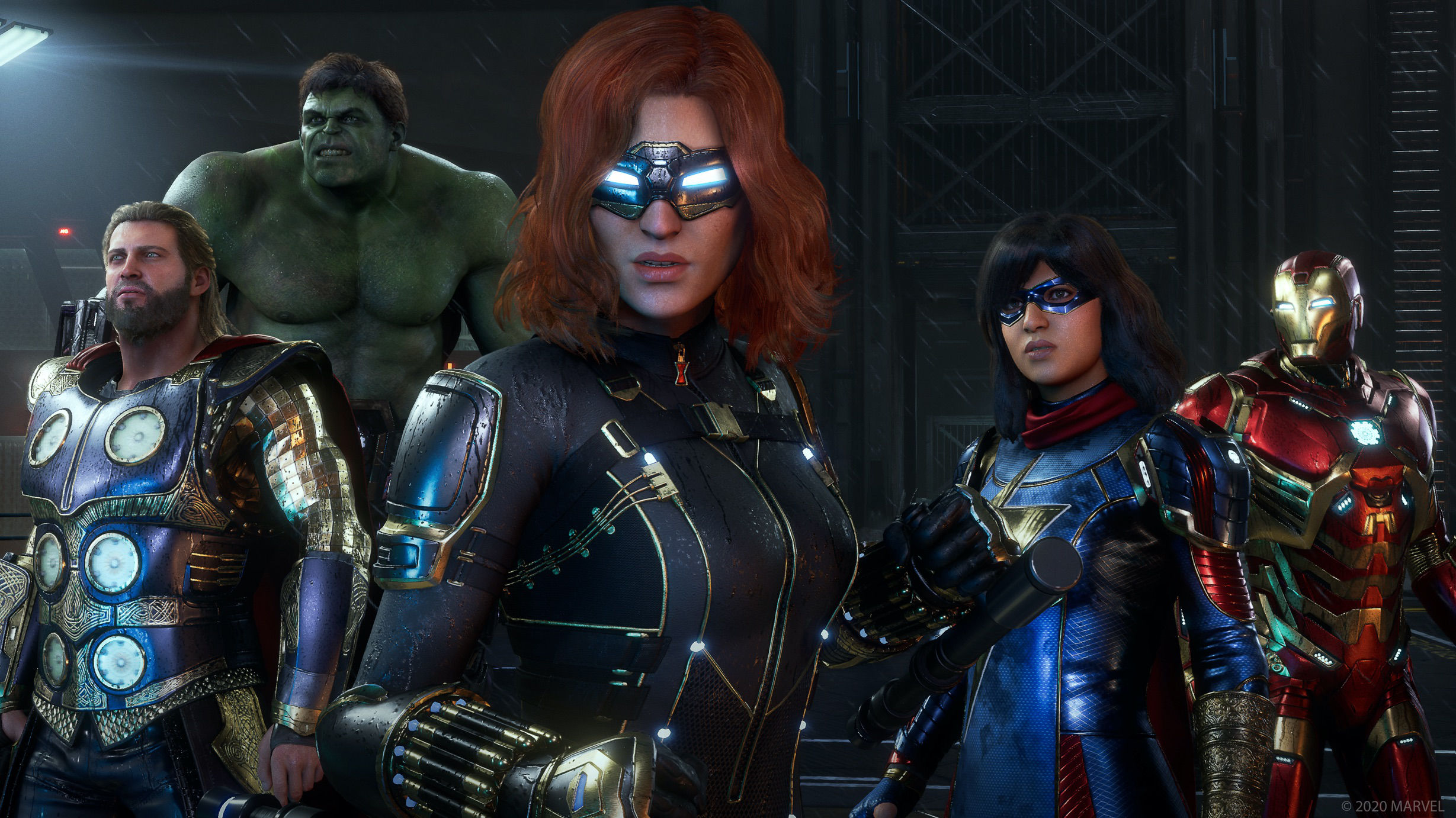 Multiple characters from Square Enix's The Avengers.