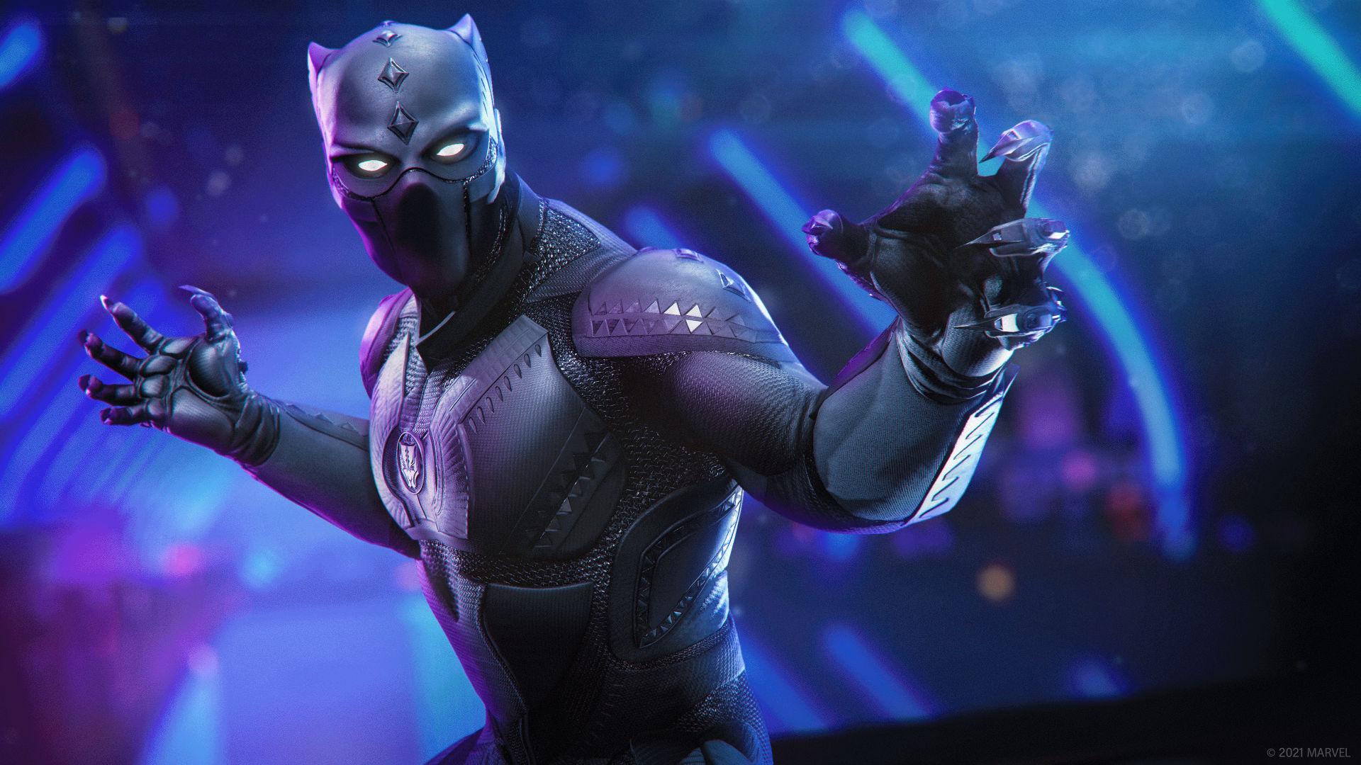Marvels Avengers Black Panther Flexing