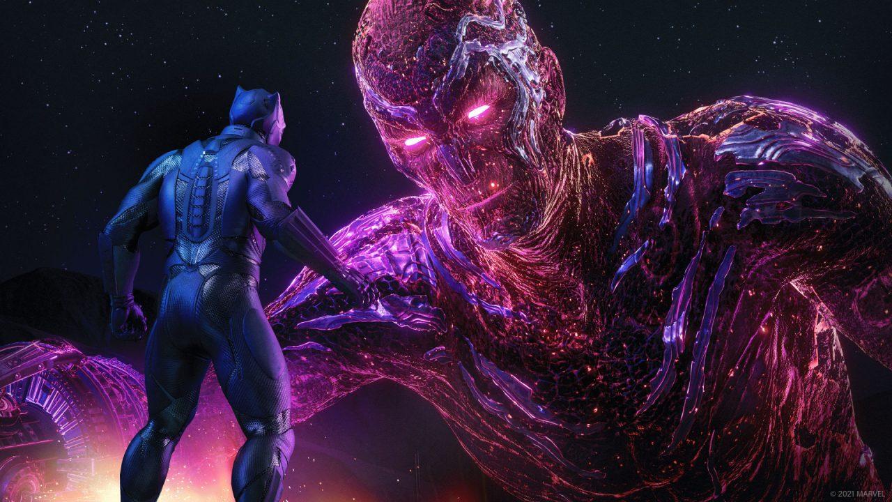 Boss battle screenshot from Marvel's Avengers.