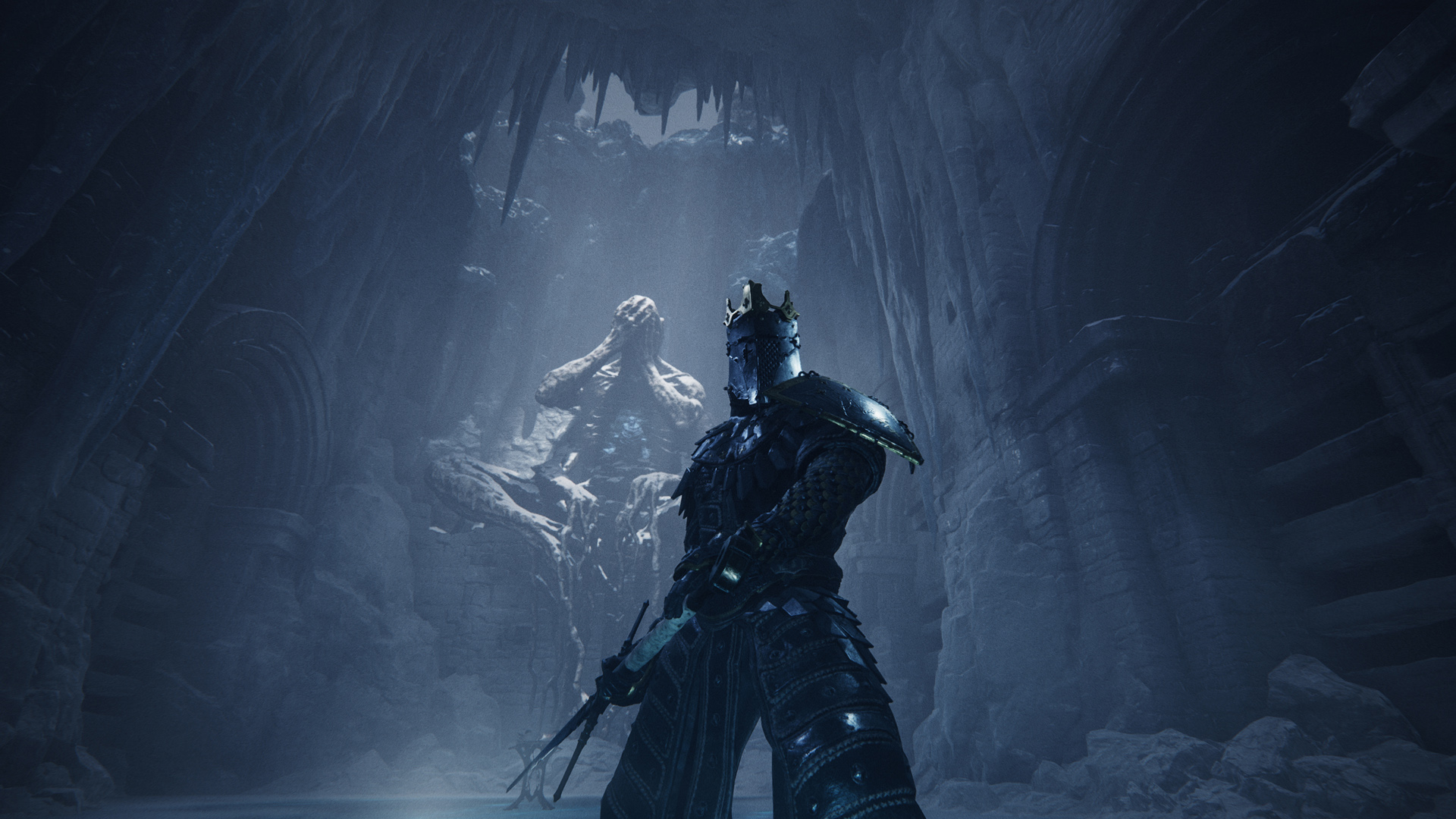 A Screenshot From Mortal Shell Showing An Armored Warrior