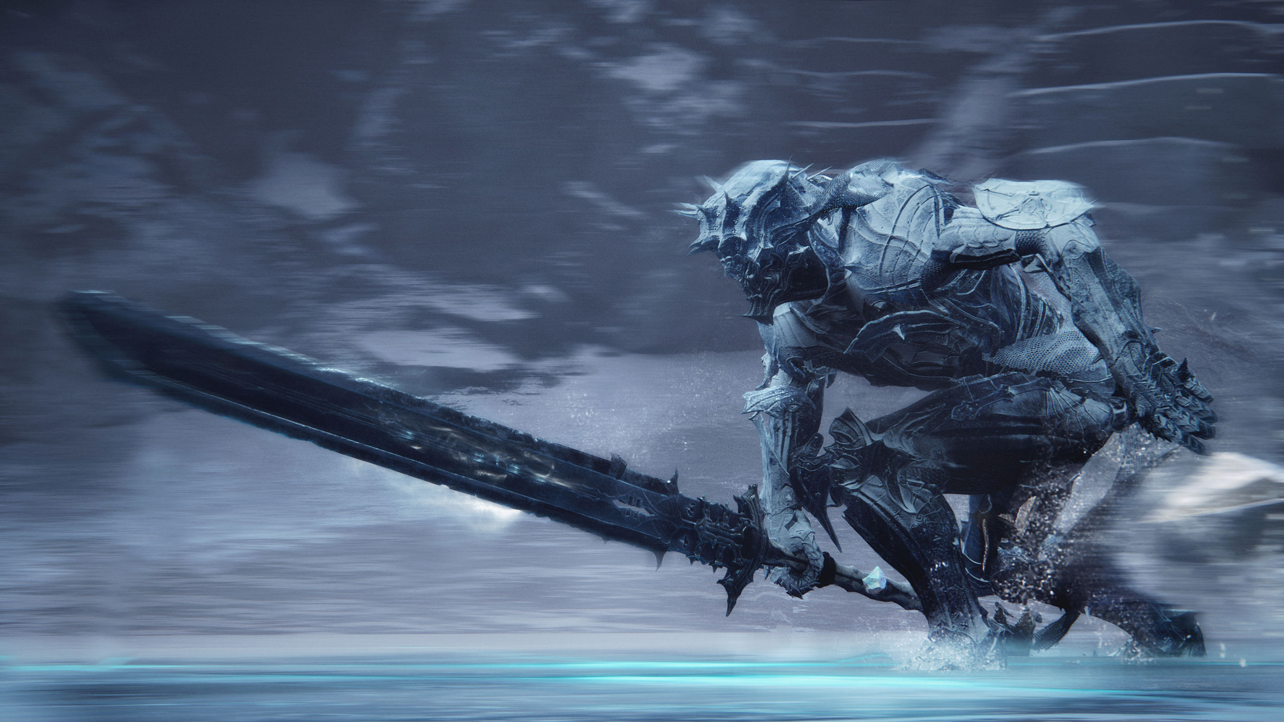 Screenshot From Mortal Shell Featuring An Armored Figure With A Huge Sword