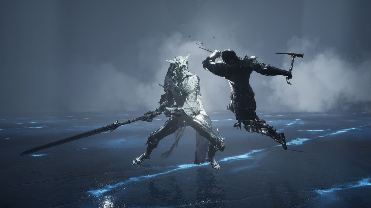 Screenshot From Mortal Shell Featuring Two Characters Fighting