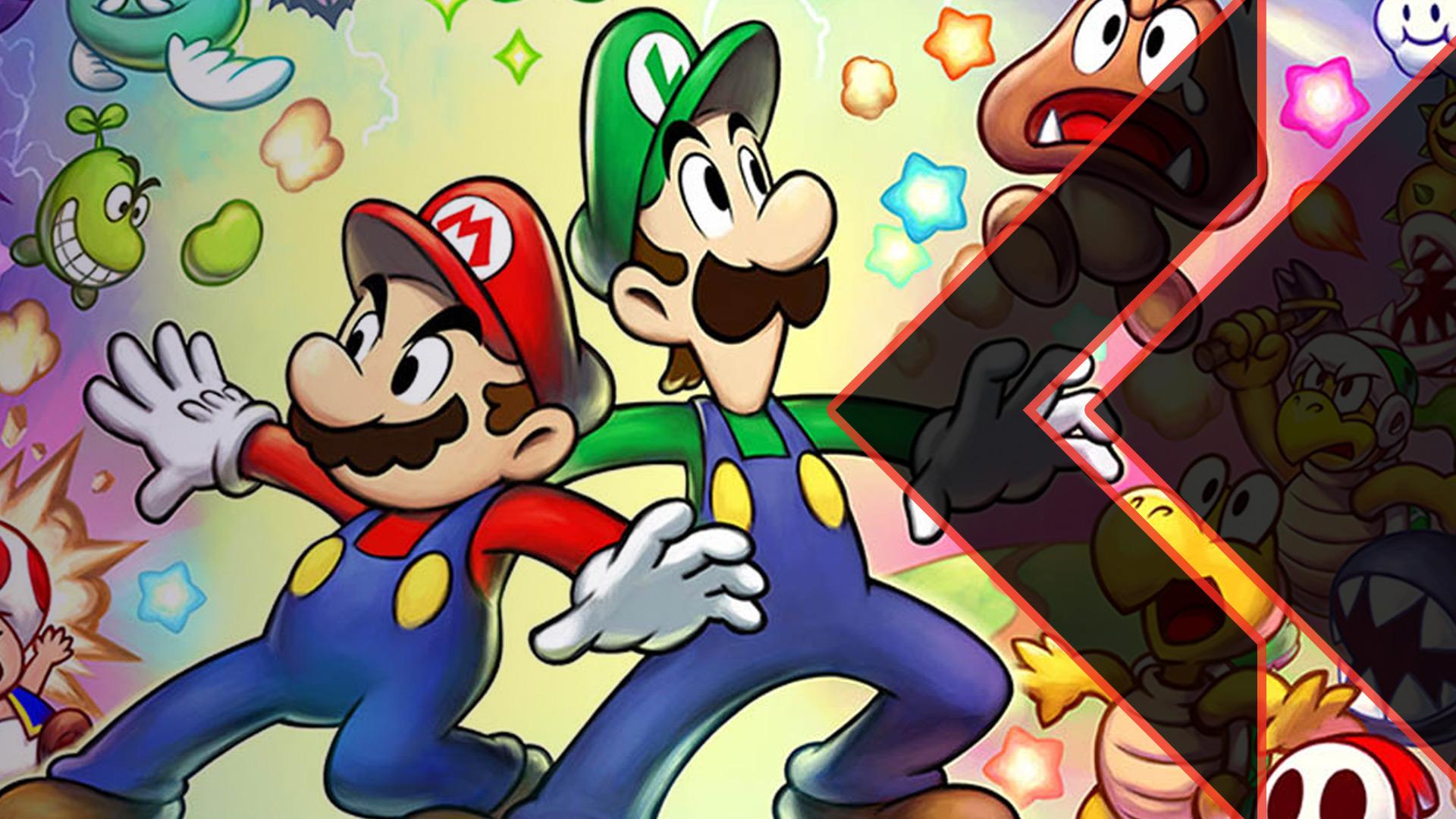 Mario & Luigi surrounded by enemies