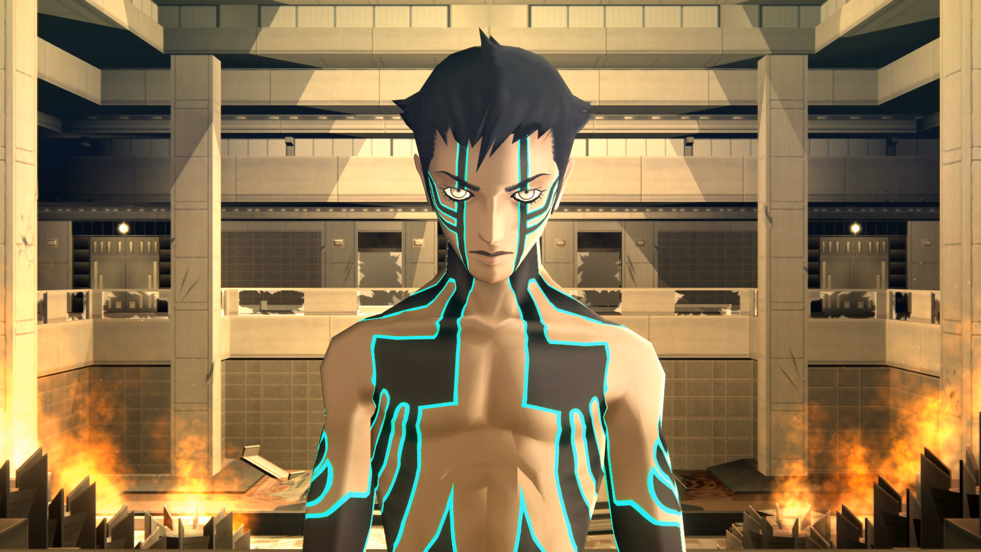 Screenshot From Shin Megami Tensei III: Nocturne HD Remaster Featuring The Demi-Fiend